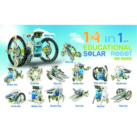14 in 1 educational solar robot konstruktorius
