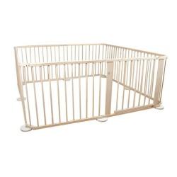8 dalių medinė apsauginė tvorelė-maniežas