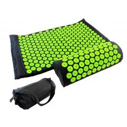 Akupresūros kilimėlio ir pagalvėlės komplektas, juodas, six7fit