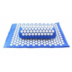 Akupresūros kilimėlis su pagalvėle SIX7FIT mėlynas