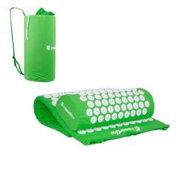 Akupresūros masažuoklis-aplikatorius (pagalvėlė + kilimėlis) inSPORTline Alavea - Green