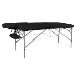 Aliumininis sulankstomas masažo stalas 2 dalių inSPORTline Tamati  - Black