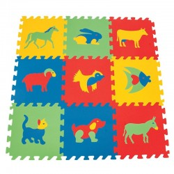 Antibakteriniai Gyvūnai WOOPIE Foam Educational Mat