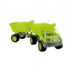 Automobilis Silent Wheels Mochtoys Green Su Priekaba