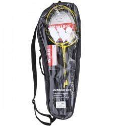 Badmintono rakečių rinkinys  Wish ALUMTEC 4466 geltonas