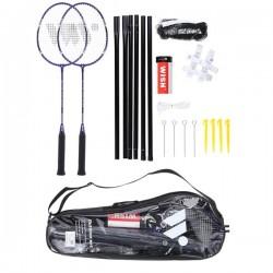 Badmintono rakečių rinkinys Wish ALUMTEC 4466 purpurinis