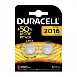 Baterija Ličio CR2016 3V DURACELL 2 vnt. Pakuotėje