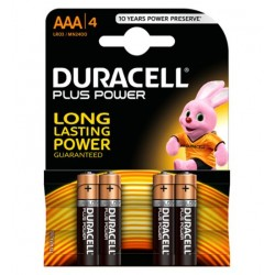 Baterija Šarminė R3 (AAA) 1.5V DURACELL Plus Power (4vnt Blisteryje)