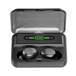 Belaidės ausinės su LED ekranu