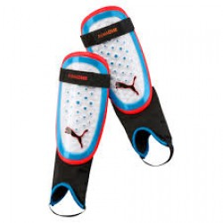 Blauzdų apsaugos PUMA ONE 3 03069921 white-blue-red, black logo