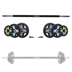 Body Pump grifo ir svorių rinkinys inSPORTline PumpStar 2-20kg