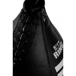 Bokso kriaušė Ring Sport odinė, juoda, pripučiama