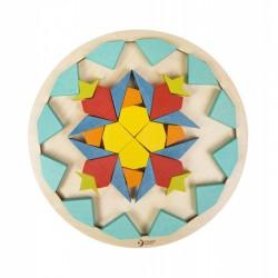 CLASSIC WORLD Mediniai spalvingi mandalos kaladėlės