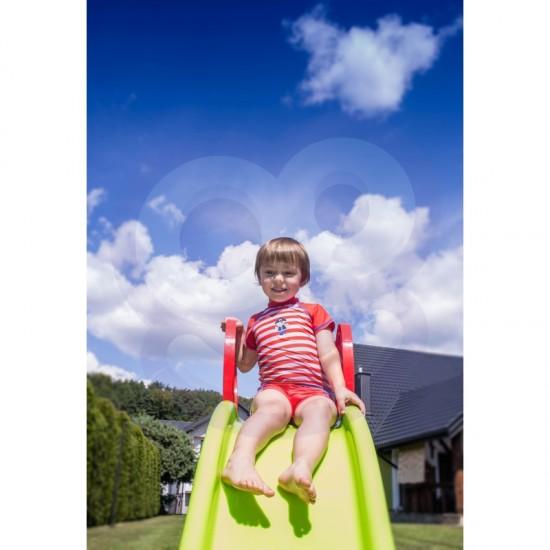 Didelė Šviesi Čiuožykla Woopie 180 cm Su Vandens Purškimo Kalneliu