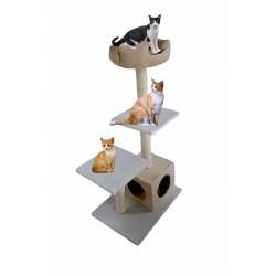 Draskyklė katėms su minkštu guoliu, 120 cm