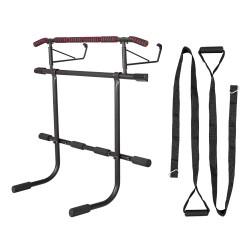 Durų staktos skersinis / lygiagretės su treniruočių diržais inSPORTline HR5004 70–92cm (iki 200kg)