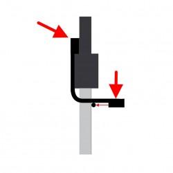 Durų staktos skersinis prisitraukimams inSPORTline 60-90cm (iki 110kg)