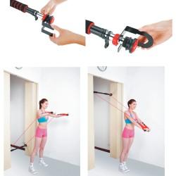 Durų staktos skersinis su pasipriešinimo gumomis inSPORTline 75-90cm (iki 100kg)