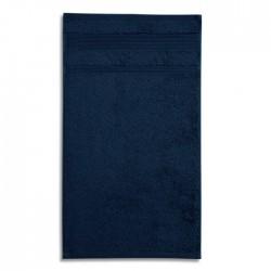 Ekologiškos Medvilnės Rankšluostis Voniai Malfini Organic Navy Blue 70x140cm.