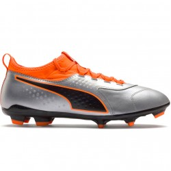 Futbolo bateliai Puma One 3 Lth FG Silver-Shock 104743 01