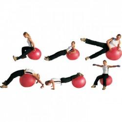 Gimnastikos Kamuolys InSPORTline Top Ball 65 cm, Raudonas