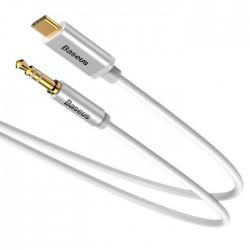 Kabelis / Adapteris USB C kištukas - 3.5mm stereo kištukas 1.2m baltas BASEUS