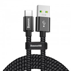 Kabelis USB2.0 A kištukas - USB C kišukas 1.0m, srovė iki 4.5V 5A juodas BASEUS