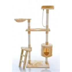 Katės namas - draskyklė CAT215, smėlinės spalvos