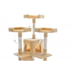Katės namas - draskyklė CAT608, smėlinės spalvos