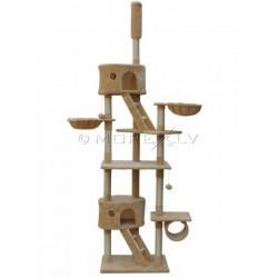 Katės namas - draskyklė CAT807, smėlinės spalvos