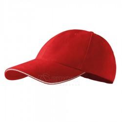 Kepurė ADLER 6P Sandwich, Raudona