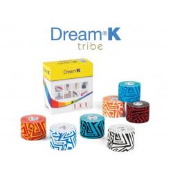 Kineziologinis teipas Dream®K Tribe, mėlynas/baltas (raštuotas)