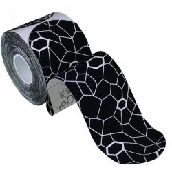 Kineziologinis teipas Thera-Band, sukarpytas, 5x25,4 cm, 20 vnt, juoda/balta