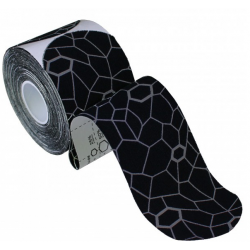 Kineziologinis teipas Thera-Band, sukarpytas, 5x25,4 cm, 20 vnt, juoda/pilka