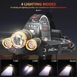 LED Galvos Žibintas BORUiT Reguliuojamo Židinio su Judesio Detektoriumi