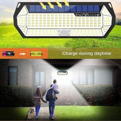 LED Lauko Šviestuvas SD-SSE38 Su Saulės Baterija Ir Judesio Jutikliu