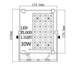 Led šviestuvas Bousval Electrique Slim Design 30W IP66