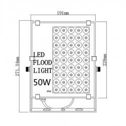 Led šviestuvas Bousval Electrique Slim Design 50W IP66