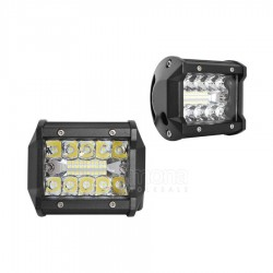 LED Žibintai automobiliams 60W, 20LEDx3W su lęšiais 6500K