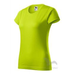 Marškinėliai ADLER Basic Lime Punch, Moteriški
