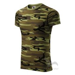Marškinėliai ADLER, Kamufliažinė Žalia