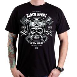Marškinėliai BLACK HEART Piston Skull