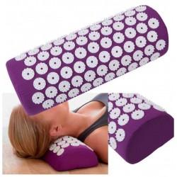 Masažinė akupresūros pagalvė tamsiai rožinė