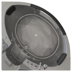 Masažinė Vonia AMO-10632 Silver 157x157 cm. Dvivietė