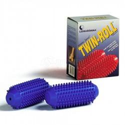 Masažo Voleliai Tonkey TwinRoll Hard 7cm, Mėlyni
