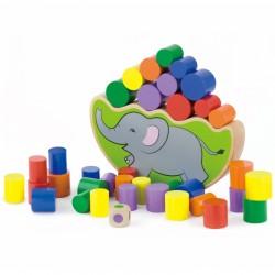 Medinė Dėlionė Balansuojantis Dramblys iš Viga Toys
