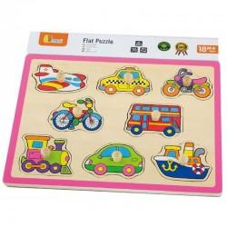 Medinė Transporto Dėlionė Viga Toys