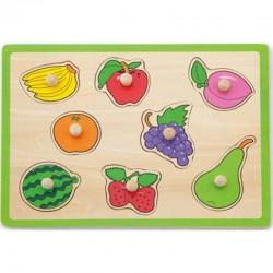Medinė vaisių dėlionė Viga Toys Puzzle