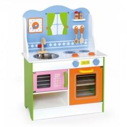 Medinė Virtuvė Viga Toys su priedais
