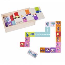 Medinis Dėlionės Žaidimas Domino Su Classic World Transporto Priemonėmis